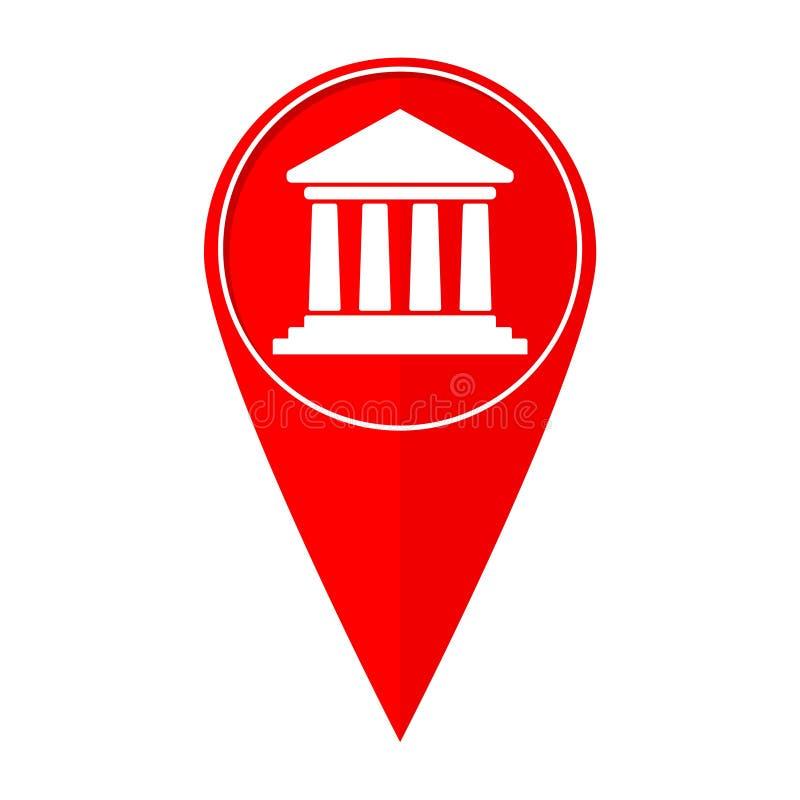 Banco del indicador del mapa stock de ilustración
