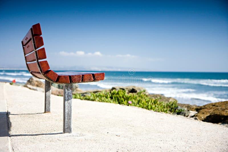 Banco della spiaggia immagini stock libere da diritti