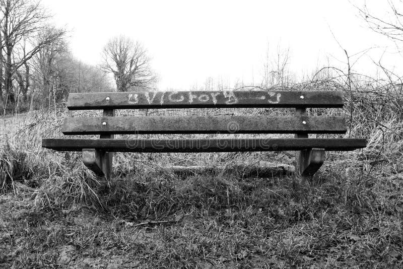 Banco della vittoria fotografia stock libera da diritti