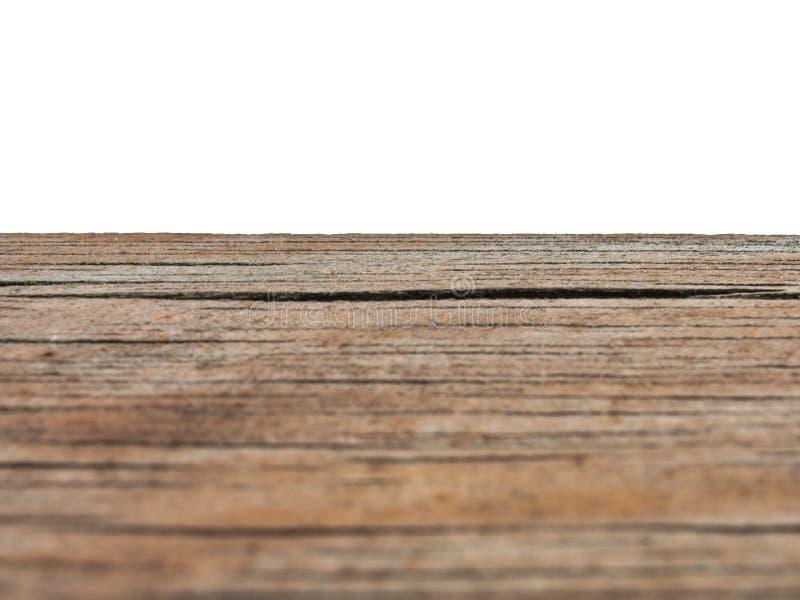 Banco di legno su un fondo bianco fotografia stock