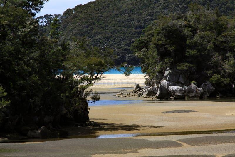 Banco di sabbia nel mare immagine stock