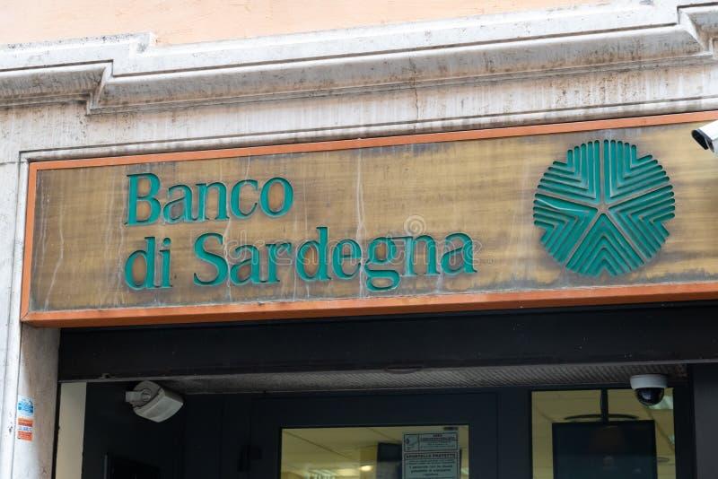 Banco Di Sardegna banka gałąź zdjęcie royalty free