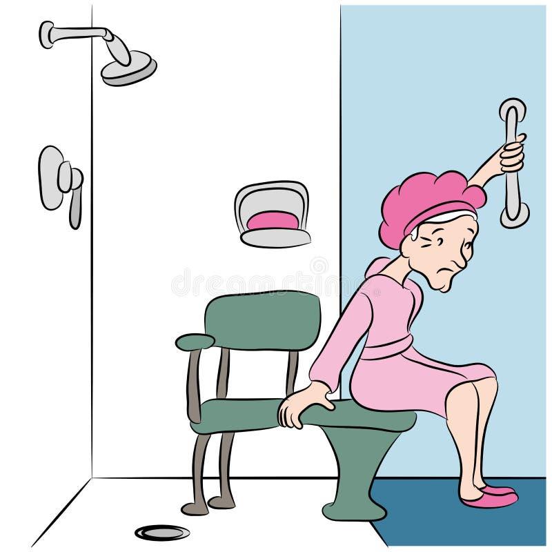 Banco do chuveiro ilustração stock