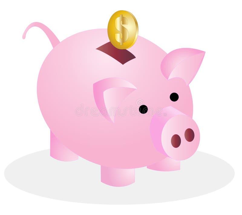 Banco do dinheiro do porco ilustração royalty free