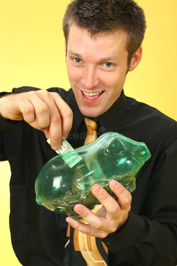 Banco do homem de negócio foto de stock royalty free