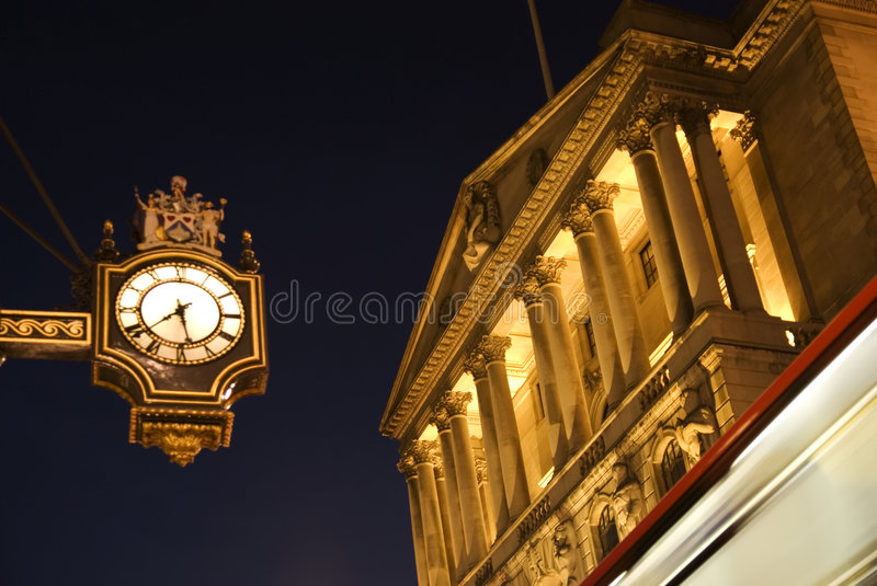 Banco do Inglaterra, Londres imagem de stock