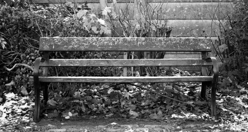 Banco dos invernos foto de stock