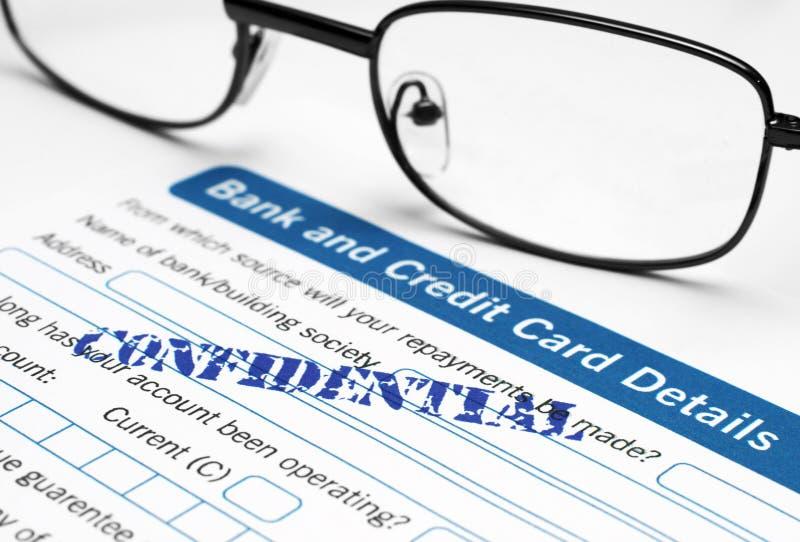 Banco e detalhe do cartão de crédito foto de stock