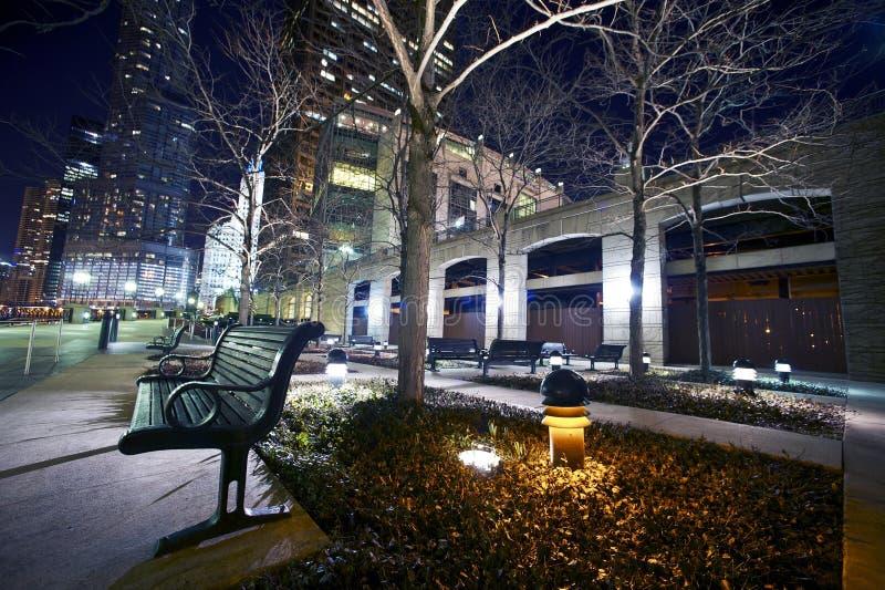 Banco em Riverwalk fotos de stock