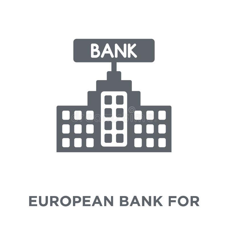 Banco europeu para o ícone da reconstrução e do desenvolvimento de Europ ilustração stock