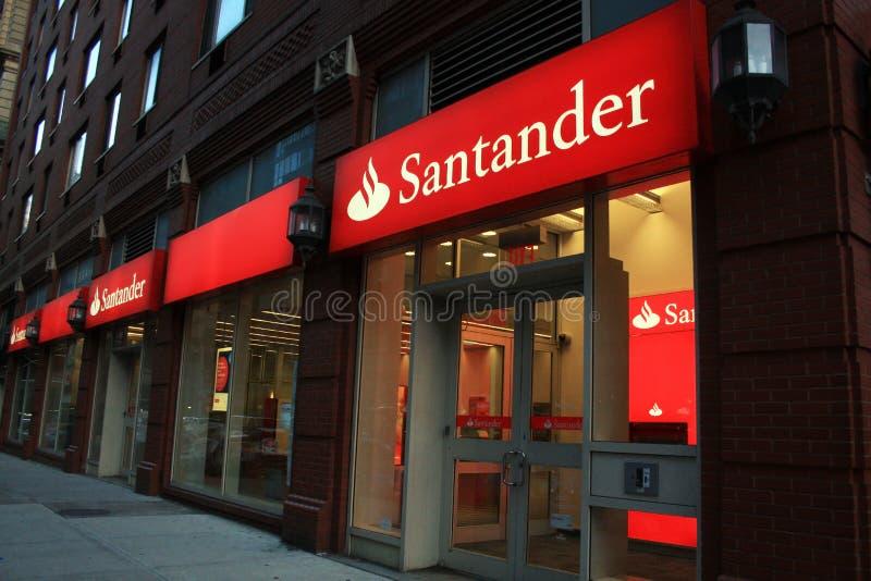 Banco New York City de Santander imagens de stock