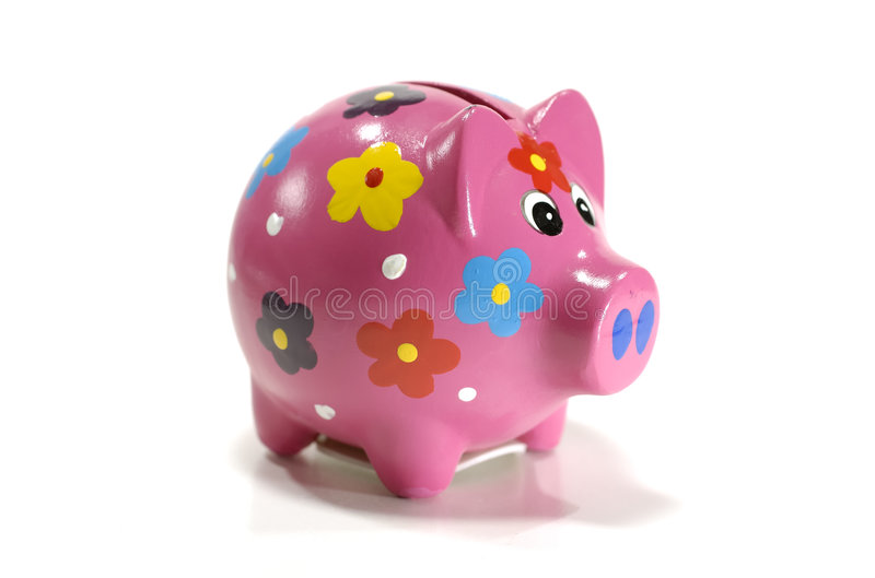 Banco Piggy fotografia de stock royalty free