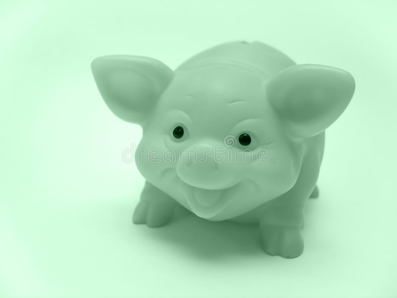 Banco Piggy Fotografia de Stock Royalty Free