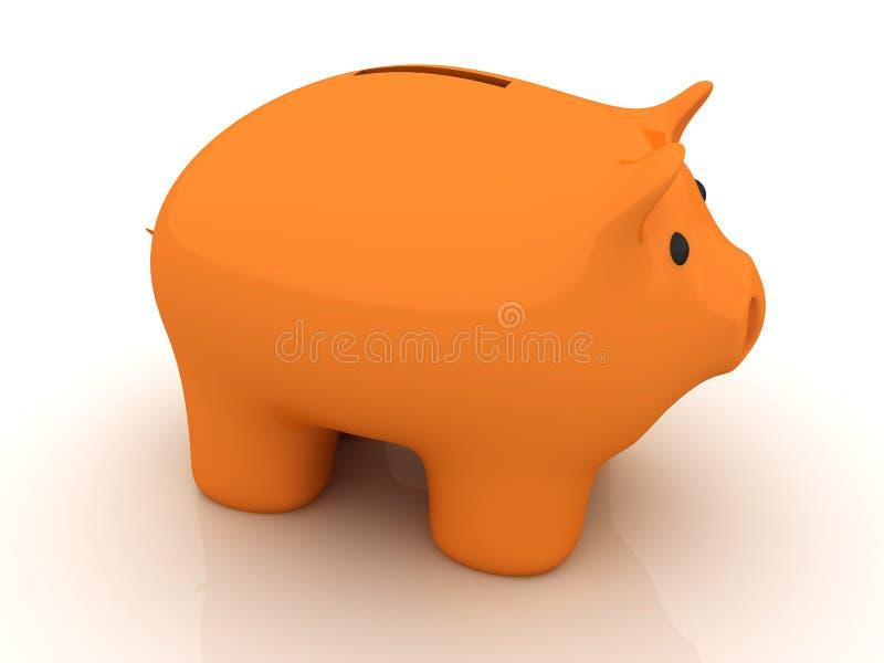 Banco piggy alaranjado isolado ilustração royalty free