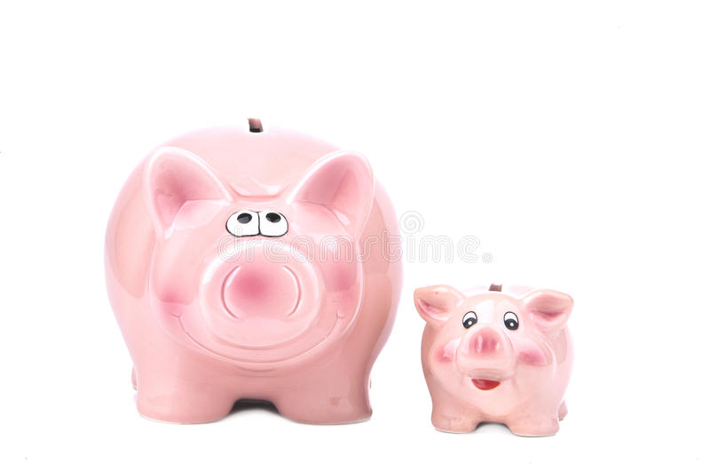 Banco Piggy - dinheiro extra fotografia de stock