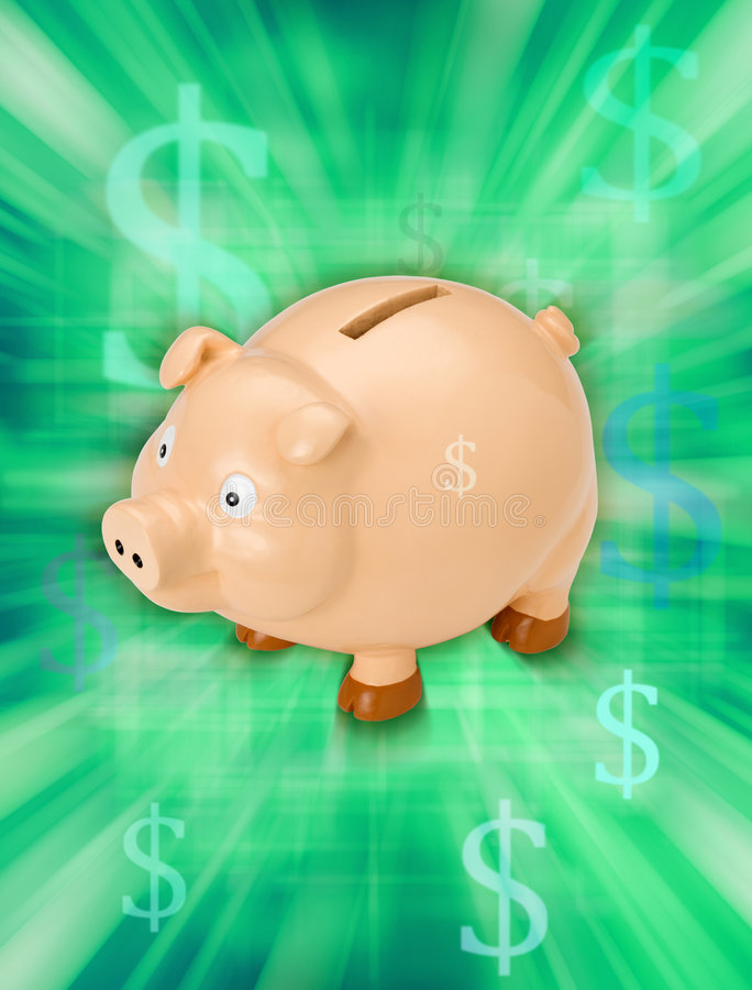 Banco Piggy do dinheiro fotos de stock royalty free