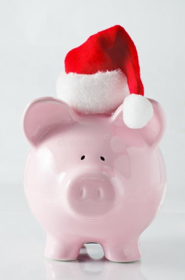 Banco Piggy do Natal fotos de stock royalty free