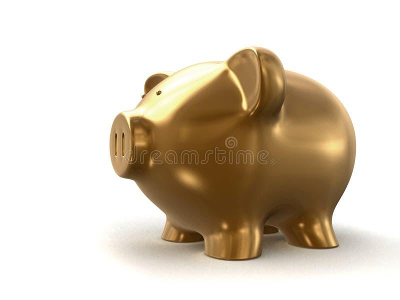 Banco Piggy dourado ilustração stock