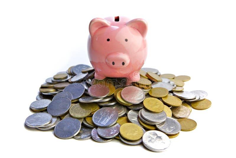 Banco piggy rico imagem de stock royalty free