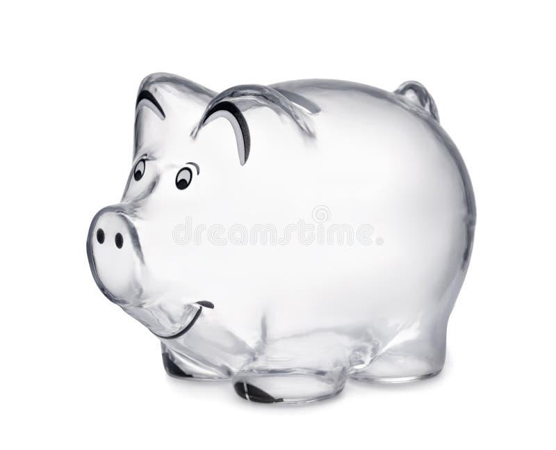 Banco piggy transparente foto de stock royalty free