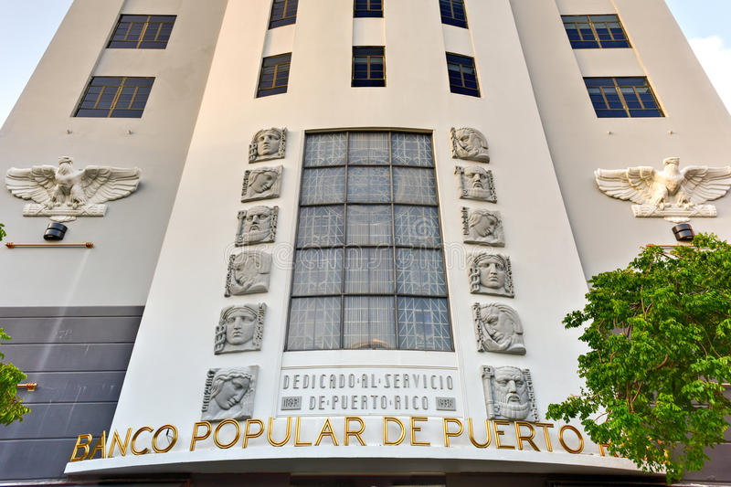 Banco populaire - San Juan, Porto Rico photo stock