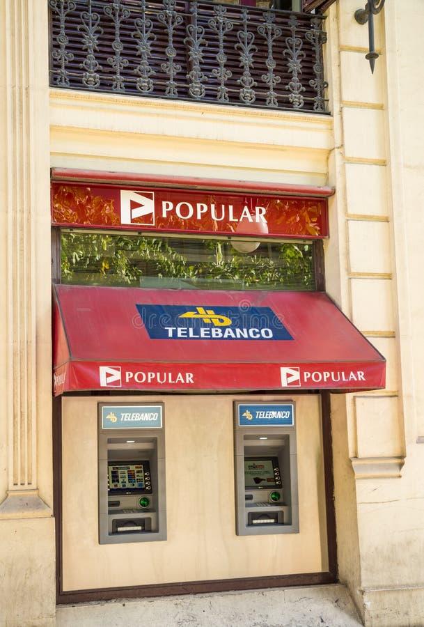 Banco Popular branch stock image