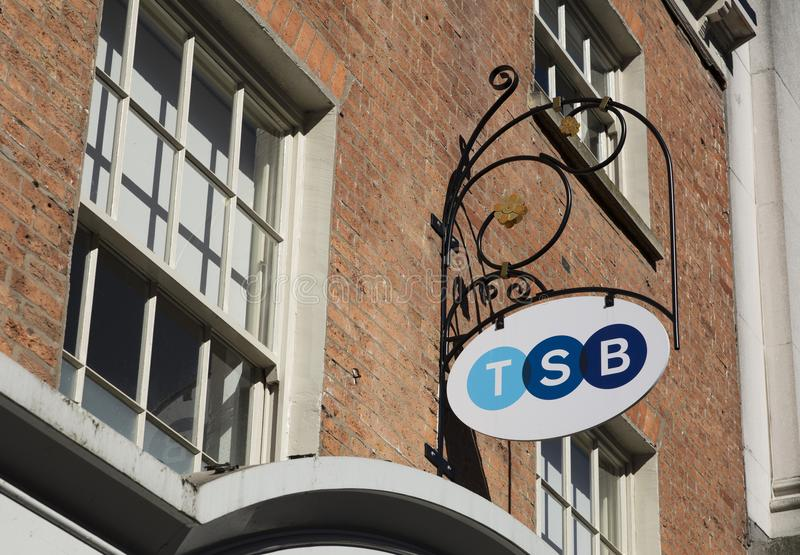 Banco que marca, rua principal de TSB, Lincoln, Lincolnshire, Reino Unido - 5o foto de stock