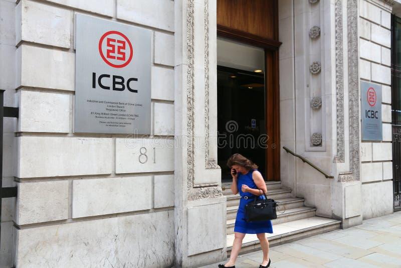 Banco Reino Unido de ICBC fotografia de stock