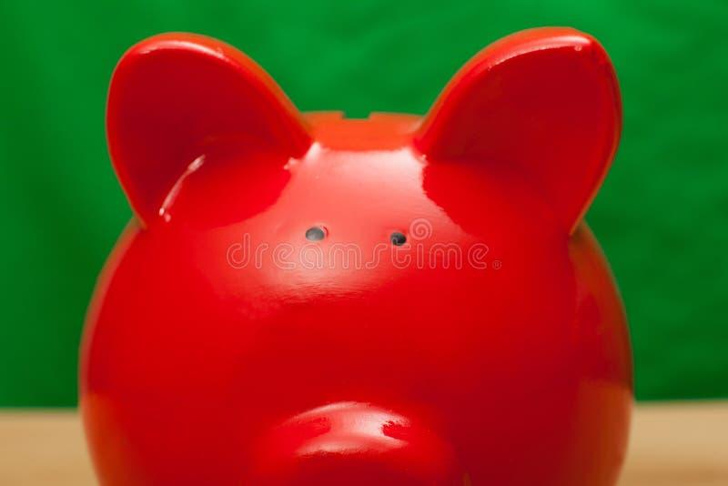 Banco rojo del cerdo foto de archivo