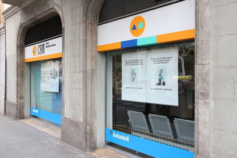 Banco Sabadell, Spanje stock foto