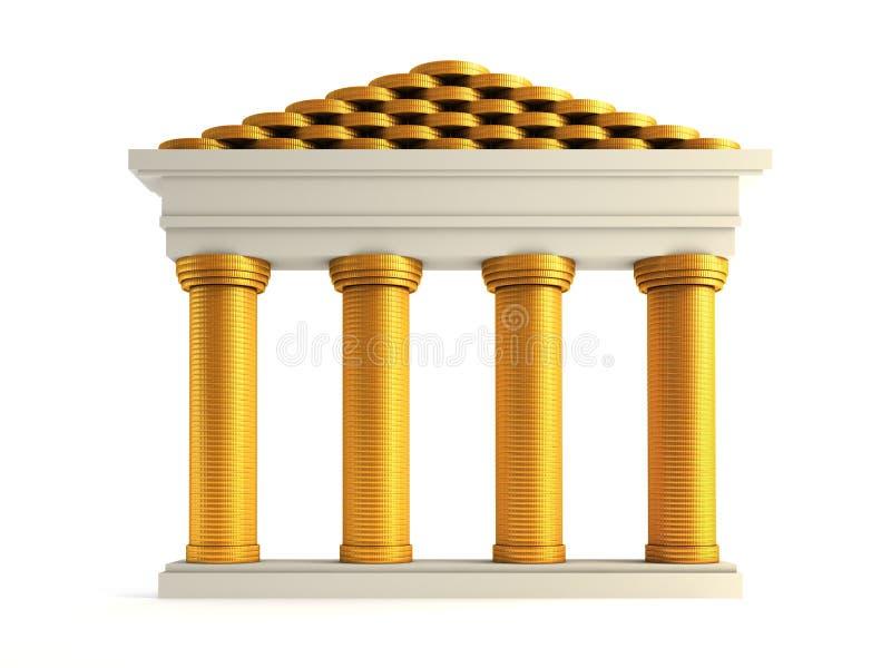 Banco simbólico ilustração stock