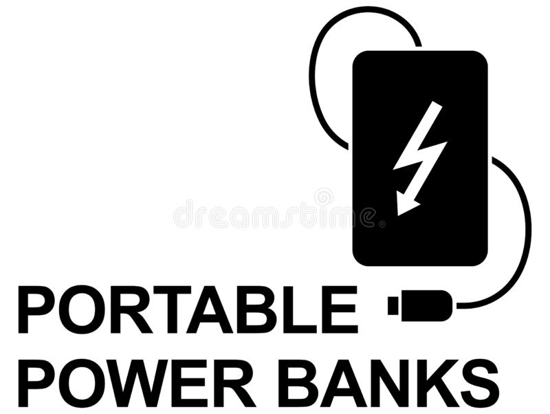 Banco simple del poder del icono del vector imagen de archivo