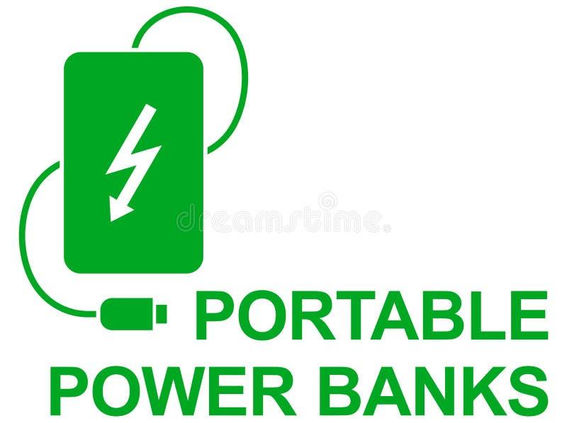 Banco simple del poder del icono del vector fotografía de archivo libre de regalías