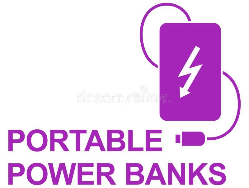 Banco simple del poder del icono del vector fotografía de archivo