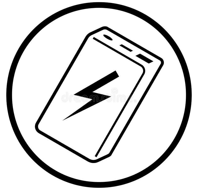 Banco simple del poder del icono del vector foto de archivo