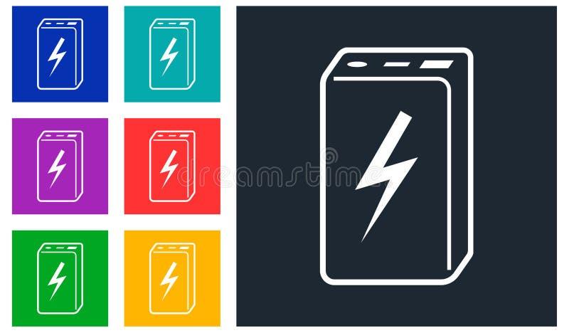 Banco simple del poder del icono del vector fotos de archivo libres de regalías