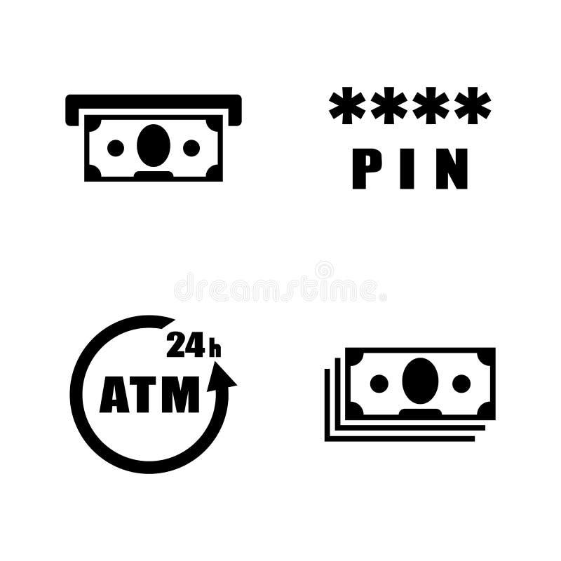 BANCOMAT Icone relative semplici di vettore royalty illustrazione gratis