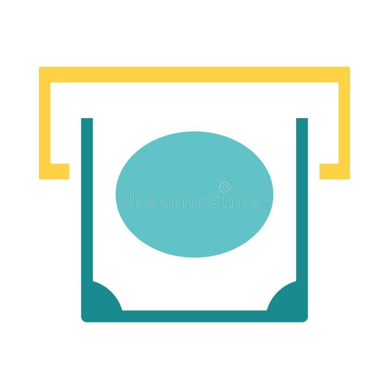 Banconota che fa scorrere dall'icona della scanalatura di bancomat royalty illustrazione gratis