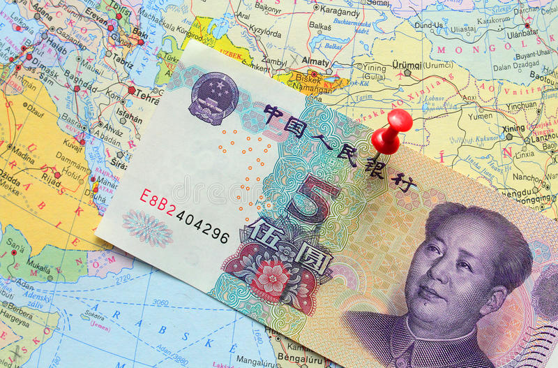 Banconota cinese di yuan fotografie stock
