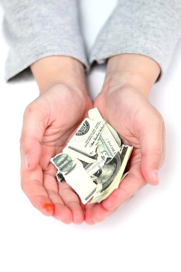 Banconota in dollari immagini stock