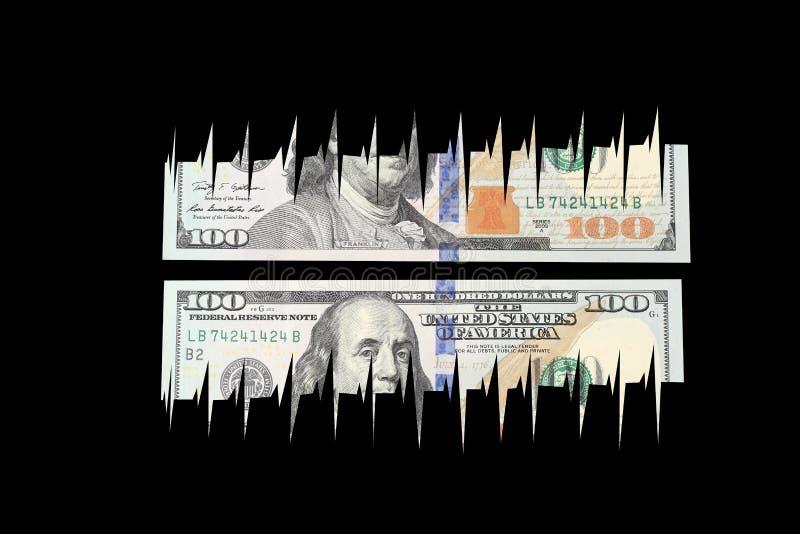 Banconota in dollari fotografia stock