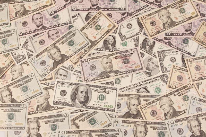 Banconote americane immagini stock