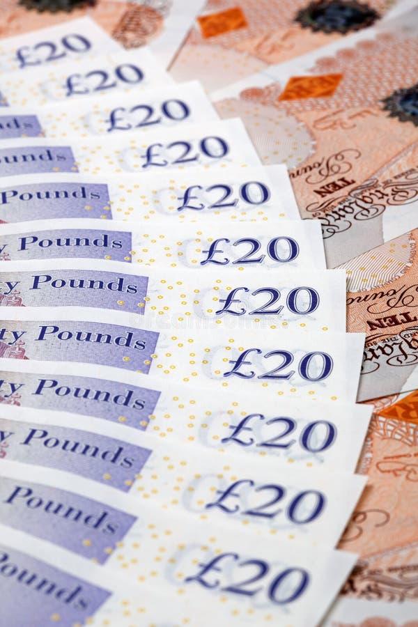 Banconote britanniche immagini stock libere da diritti