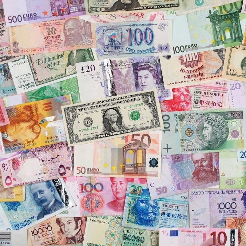 Banconote da dappertutto fotografie stock libere da diritti
