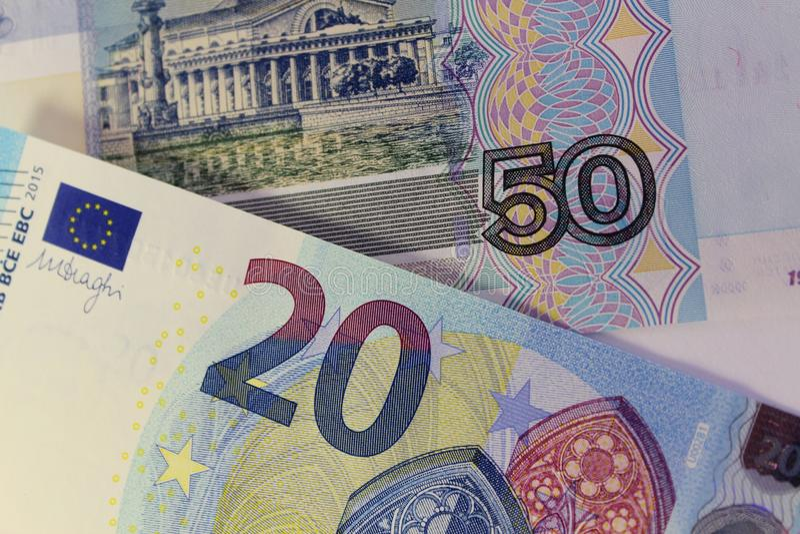 Banconote dei paesi differenti, denominazione differente fotografie stock