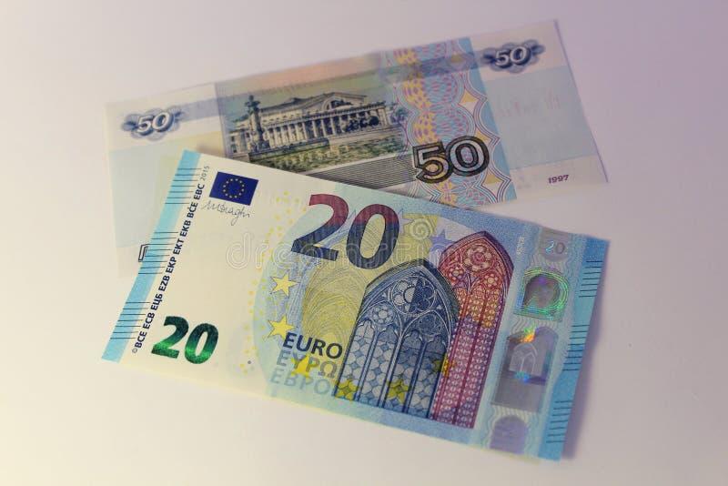Banconote dei paesi differenti, denominazione differente immagine stock libera da diritti