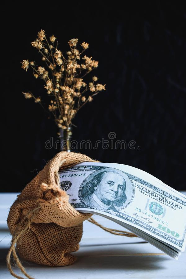 Banconote del dollaro americano immagine stock