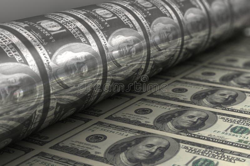 Banconote del dollaro US Di stampa royalty illustrazione gratis