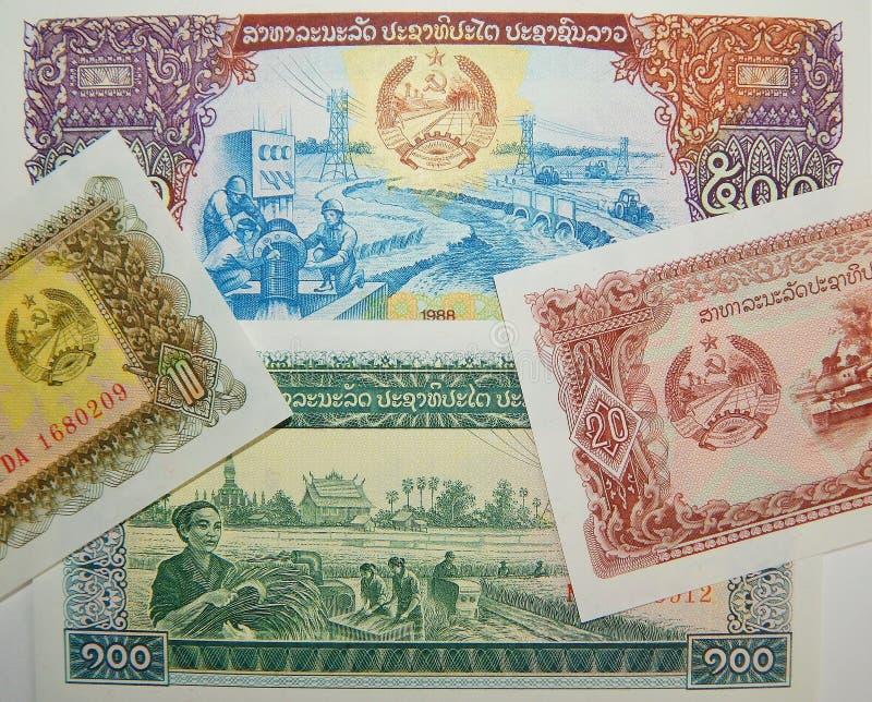 Banconote del Laos Biglietto immagine stock libera da diritti