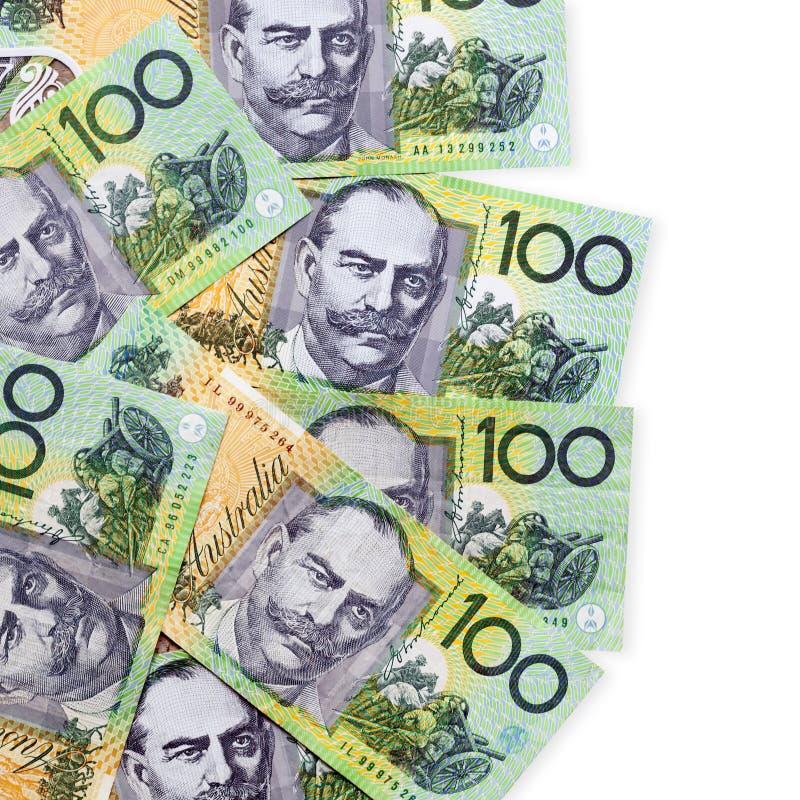 Banconote in dollari australiane dei soldi cento fotografia stock libera da diritti